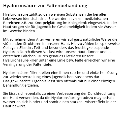 Faltenunterspritzung, Kosmetiker aus  Lampertheim - Neuschloß, Hofheim, Rosengarten oder Hüttenfeld, Wehrzollhaus